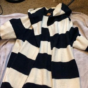 very cute black and white striped cardigan